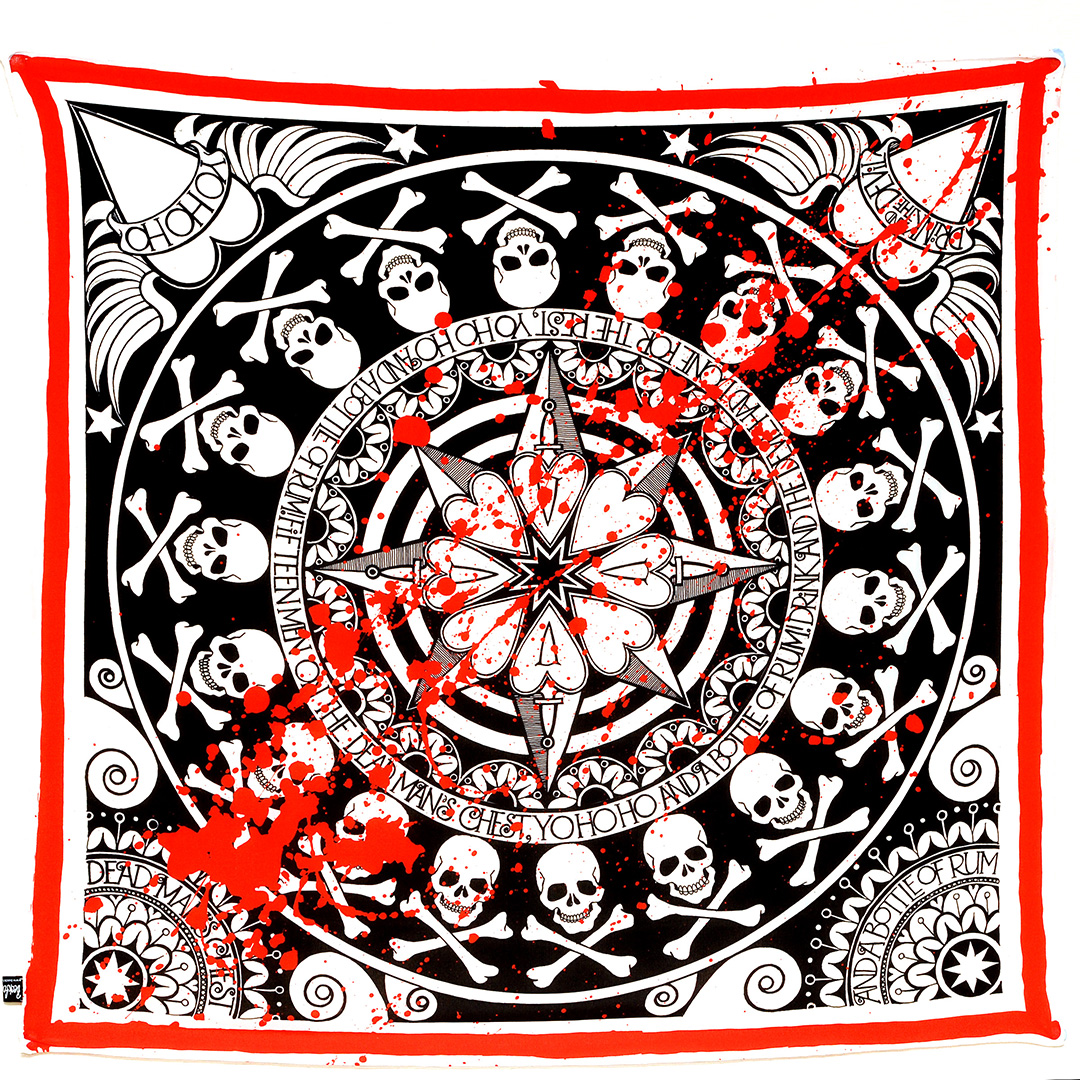 Yo Ho Ho Blood Splatter Scarf